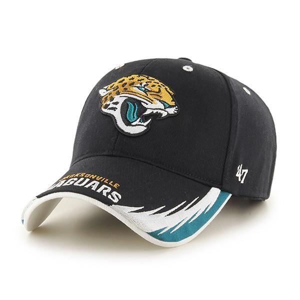 21cdedbb5 NFL Jacksonville Jaguars Black Take Down 47 Brand MVP Hat