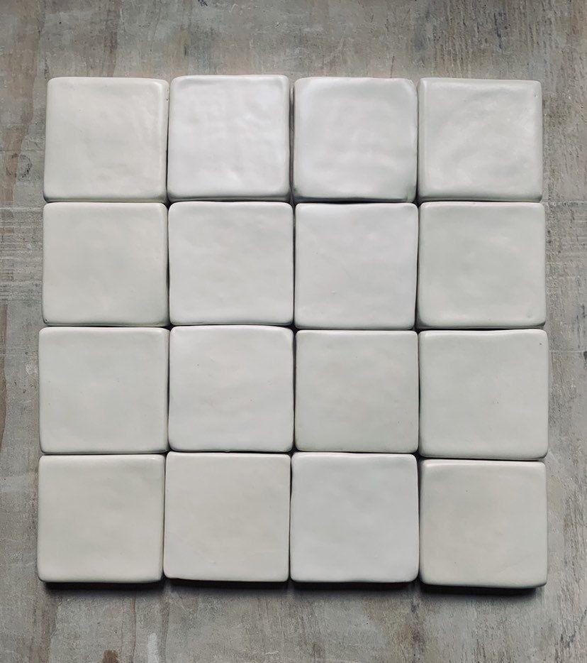 3x3 handmade ceramic tile backsplash