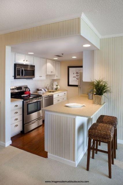 Amoblamientos de cocina peque as bonitas hogar turbio y for Muebles practicos para casas pequenas
