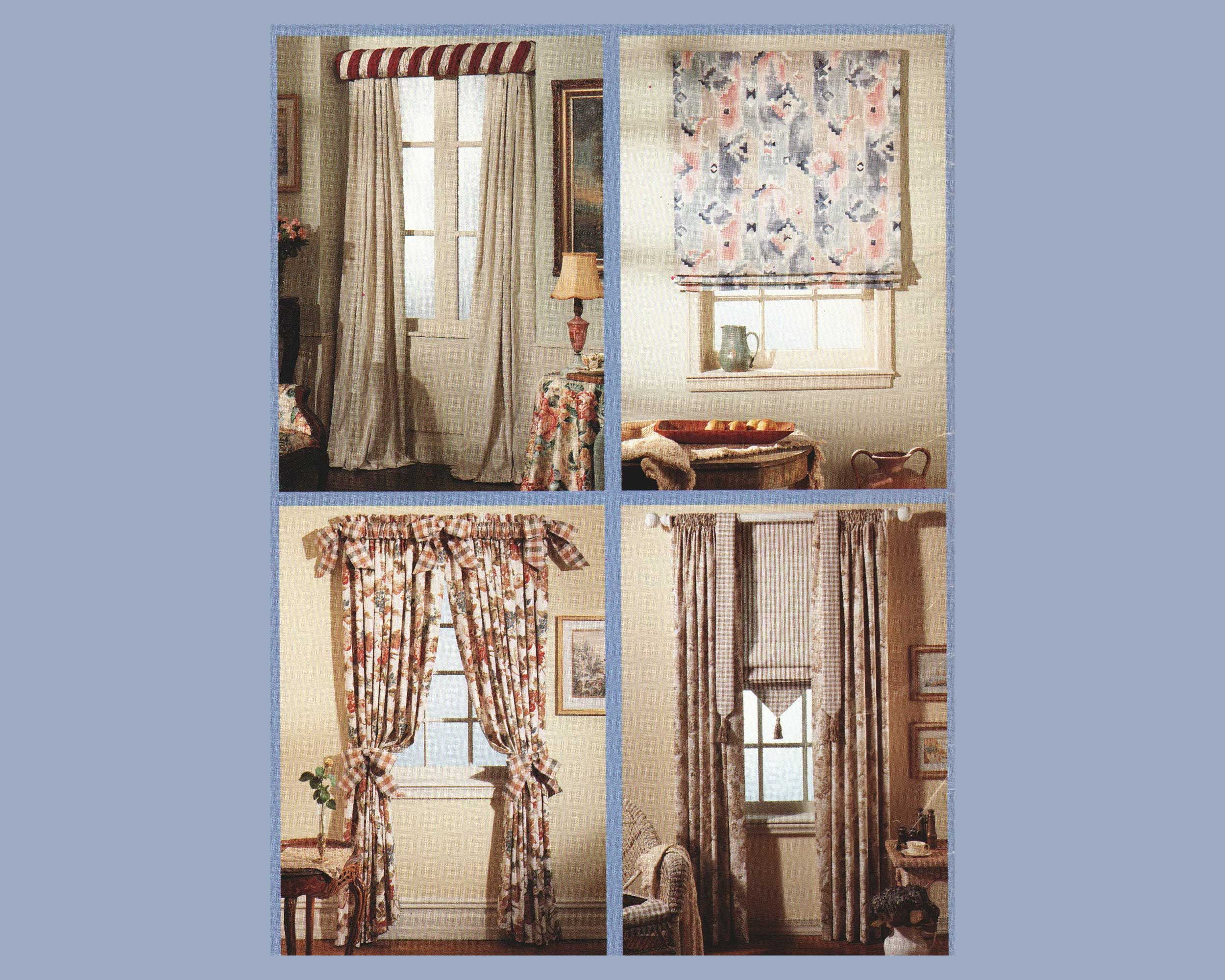 Sewing Pattern For Window Treaments Roman Shade Curtains And Rod Sleeve Mccalls 7937 Uncut Home Decor Curtain Patterns Fabric Decor