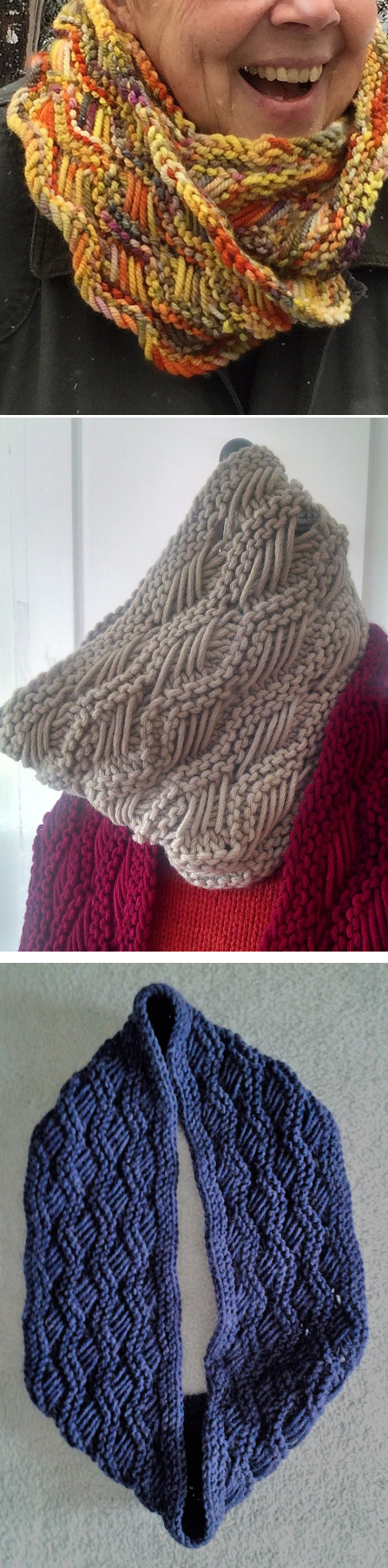 Free Knitting Pattern for Lattice Cowl - Ridges of alternating ...