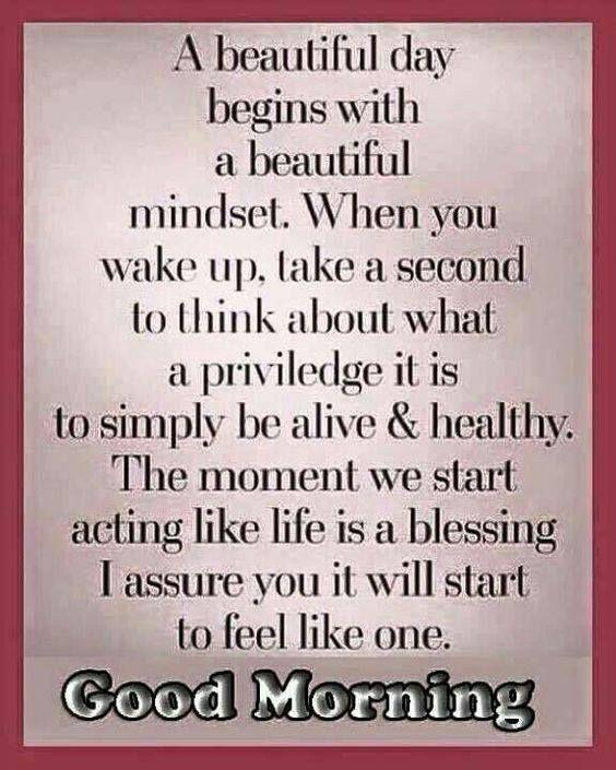 Beautiful morning sayings