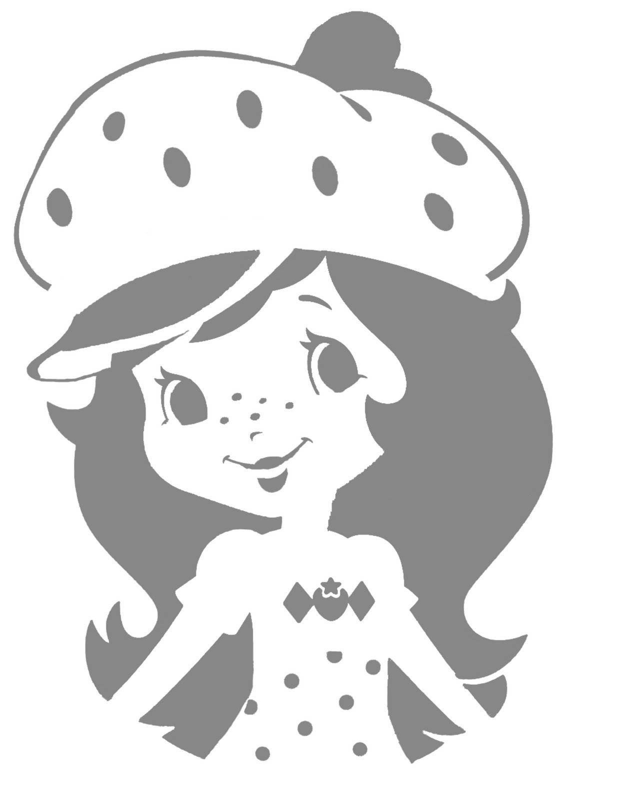 strawberry shortcake pumpkin carving stencil | The Buell Family ...