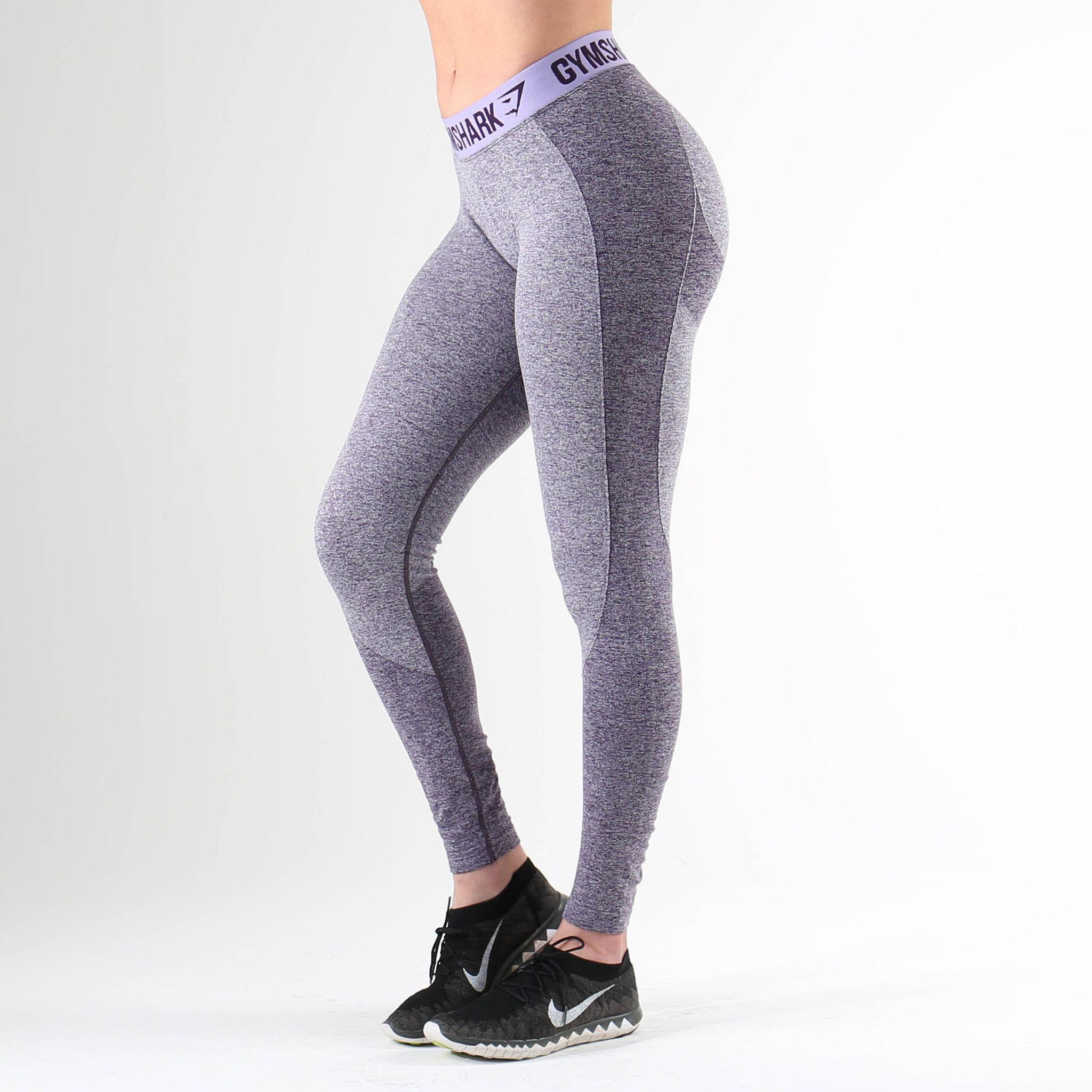 6079ea53f138f Gymshark Flex Leggings - Rich Purple Marl/Soft Lilac | gymshark ...