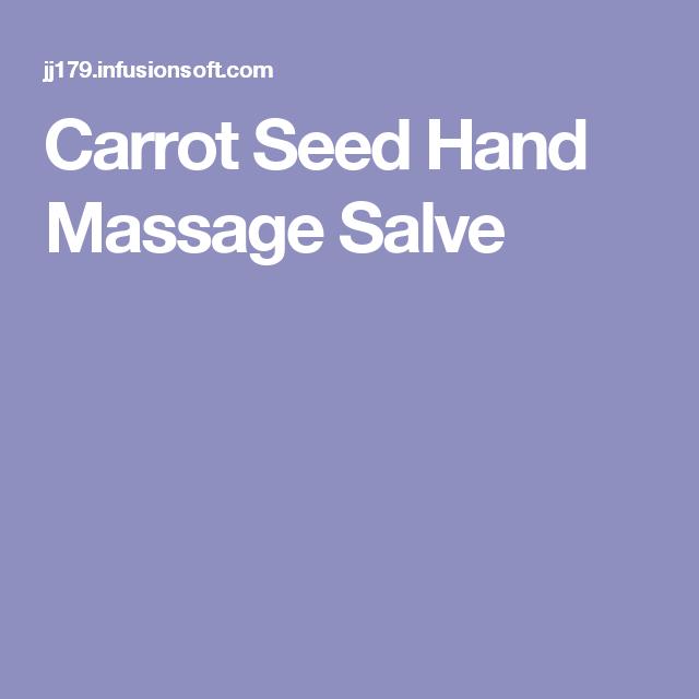 Carrot Seed Hand Massage Salve