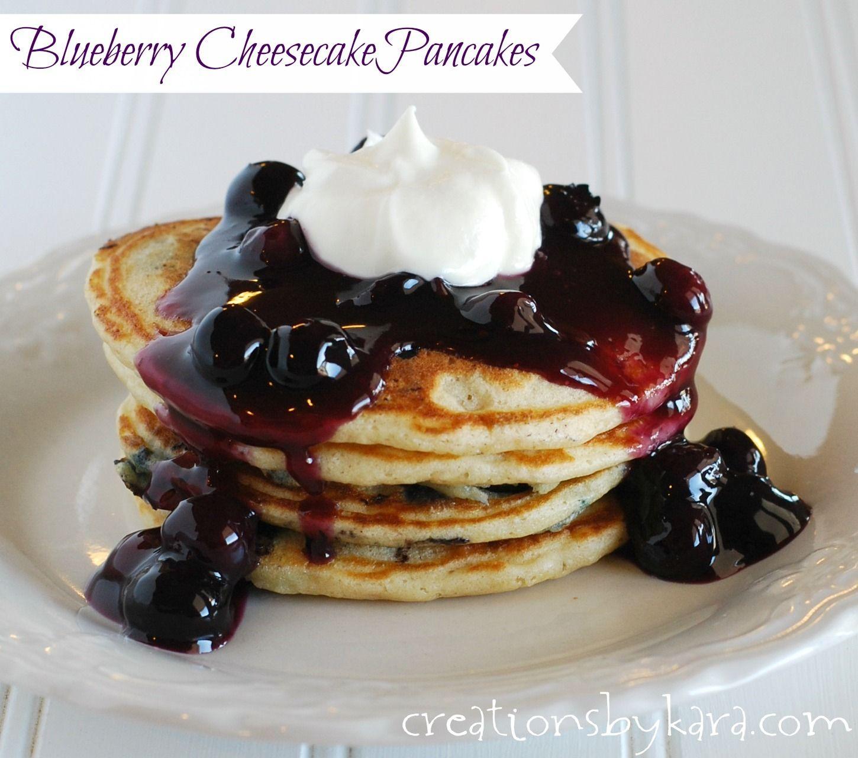 Blueberry Cheesecake Pancakes on MyRecipeMagic.com