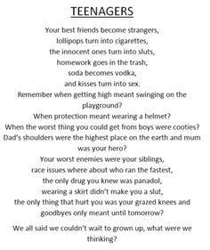 Sad teen poetry