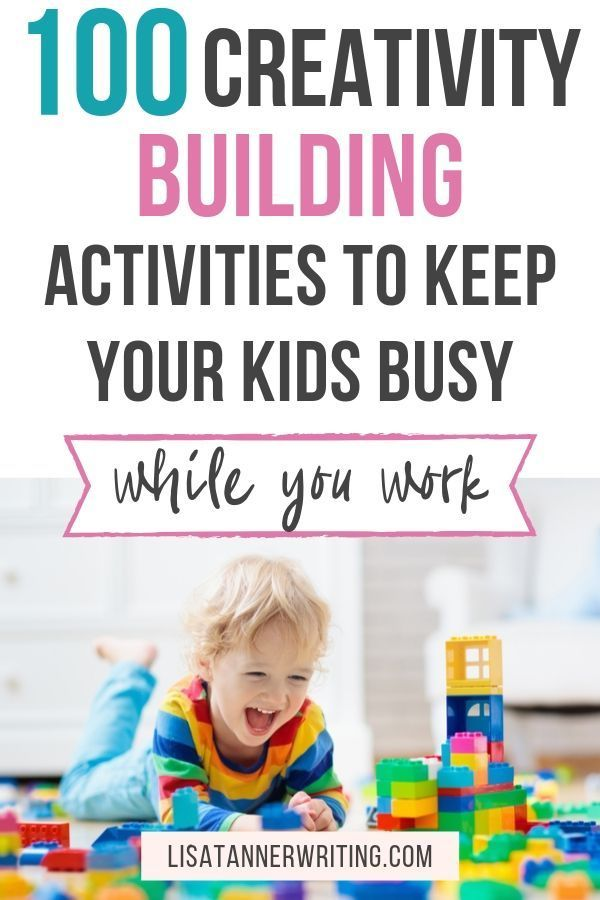 When you need to get some work done from home, you must find a way to engage your kids. Here are 100 screen free activities for kids that help them build their creativity. You will find fun family activities using a variety of common household items and basic toys. Set your kids up with these fun activities and settle down to get some work done from home. #funfamilyactivities #screenfree #creativity