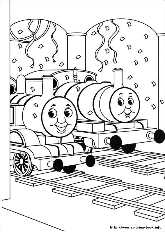 Gratis Kleurplaten Thomas De Trein.Thomas And Friends Coloring Picture Thomas De Trein Kleurplaten