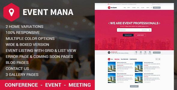 event management companies website templates free downloads - Acur ...