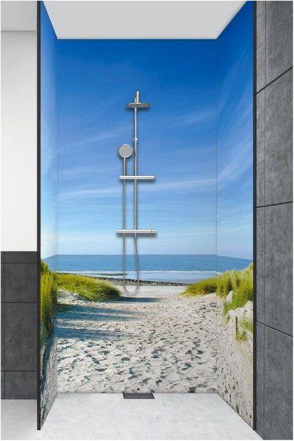 Duschruckwande Ivonnewierink Strand Mit Sanddunen Weg Zur See In 2020 Duschruckwand Dusche Fototapete