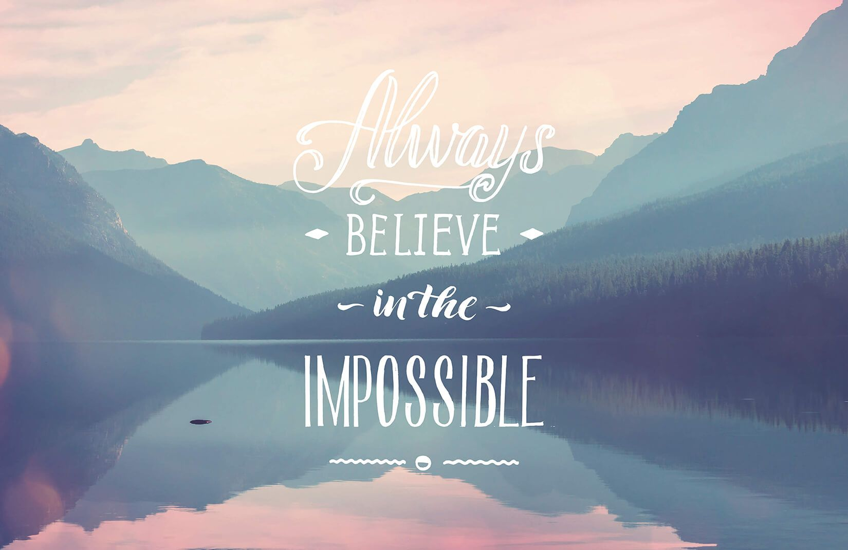 The Impossible' Inspirational Quote Wallpaper | Murals Wallpaper