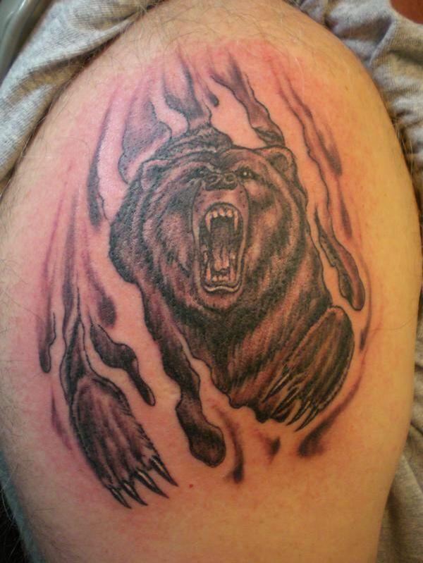 фото татуировок с изображением медведя когда