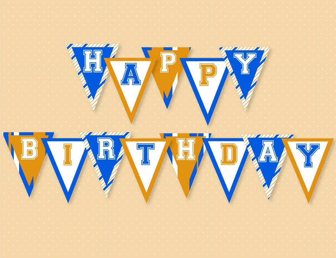 Basketball Party Printable Happy Birthday Banner Instant Etsy Happy Birthday Banner Printable Happy Birthday Banner Printable Free Happy Birthday Banners