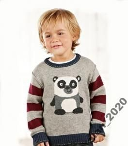 Next Sweterek Panda Piekny 110 Cm 4141720885 Oficjalne Archiwum Allegro Baby Knitting Fair Isle Knitting Knitting For Kids