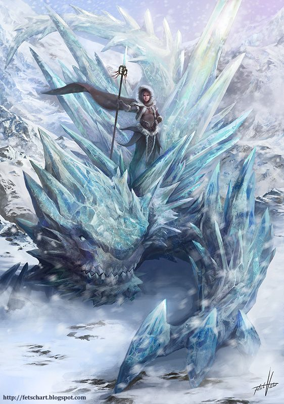 Snowmancer By Fetsch On Deviantart Fantasy Dragon