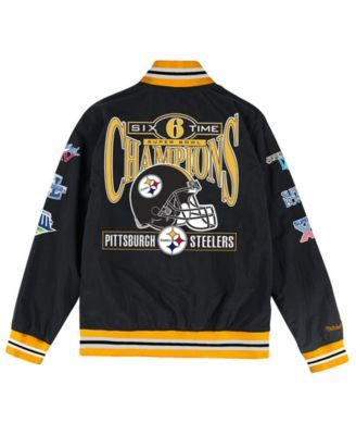 best service 87bb0 543bf Mitchell & Ness Men's Pittsburgh Steelers Team History Warm ...