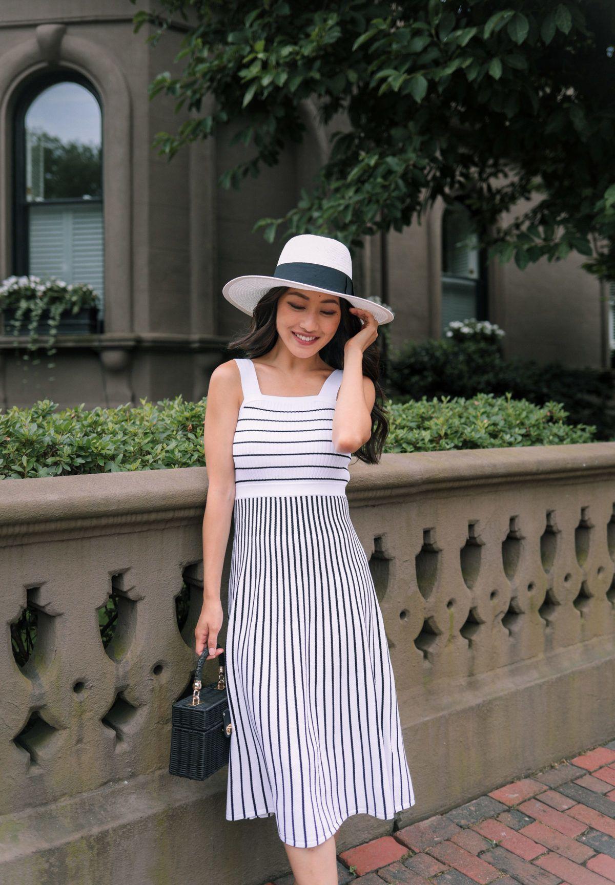 Banana Republic Petites Striped Sweater Dress Striped Sweater Dress Womens Fashion Modest Extra Petite [ 1728 x 1200 Pixel ]