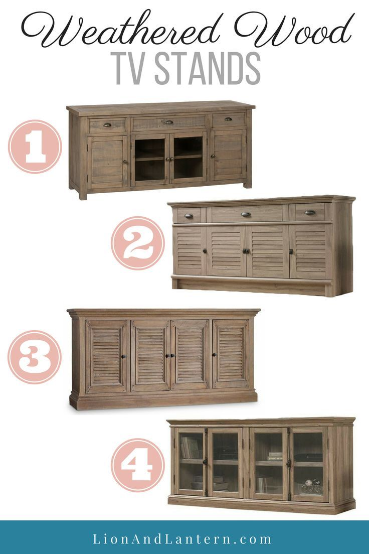 Weathered Wood Tv Stands At Lionandlantern Farmhouse Stand Media Console Furniture Modern