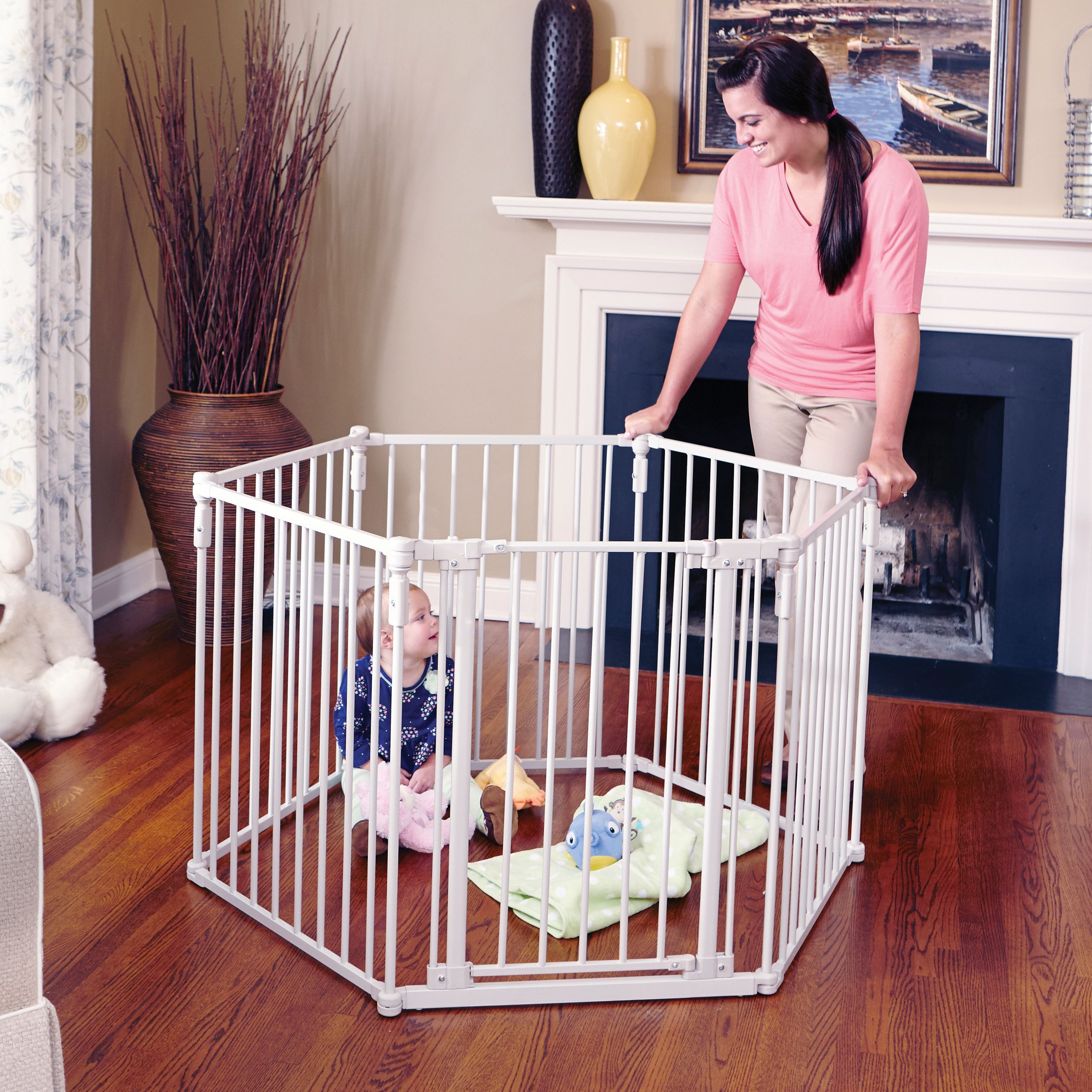 Toddleroo by North States 3in1 Metal Superyard, 12 Ft