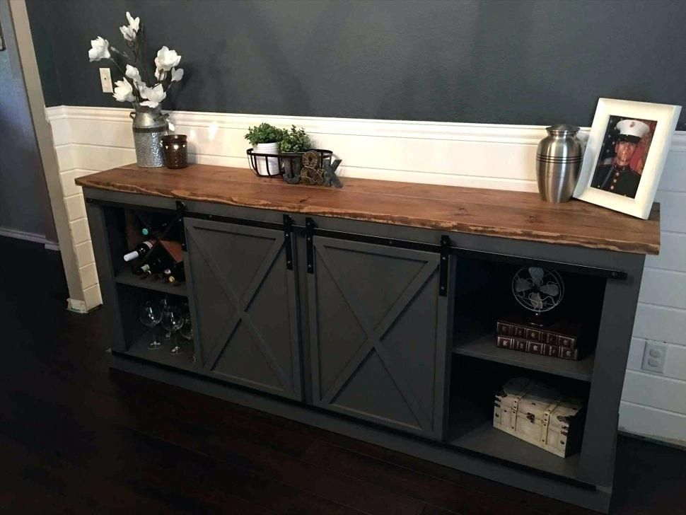 Sliding Door Console Console Table Black Cabinet With Sliding