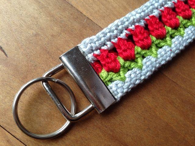 Leezenland Tutorial Gehäkeltes Schlüsselband Tulpenliebe