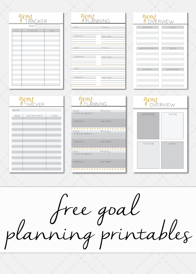 Free Goal Overview Goal Planning  Goal Trackinh Printable