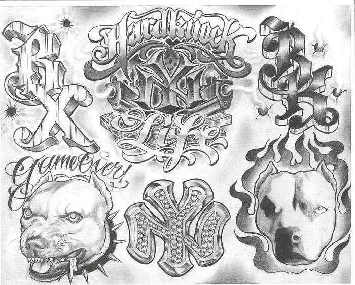 Female Gangster Chicano Tattoo Designs