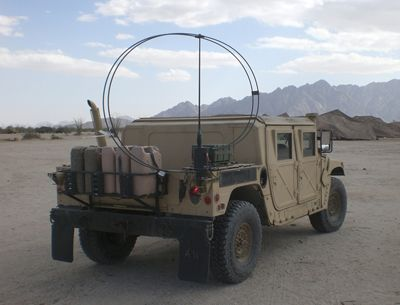 HF vehicle loop antenna gives NVIS performance for