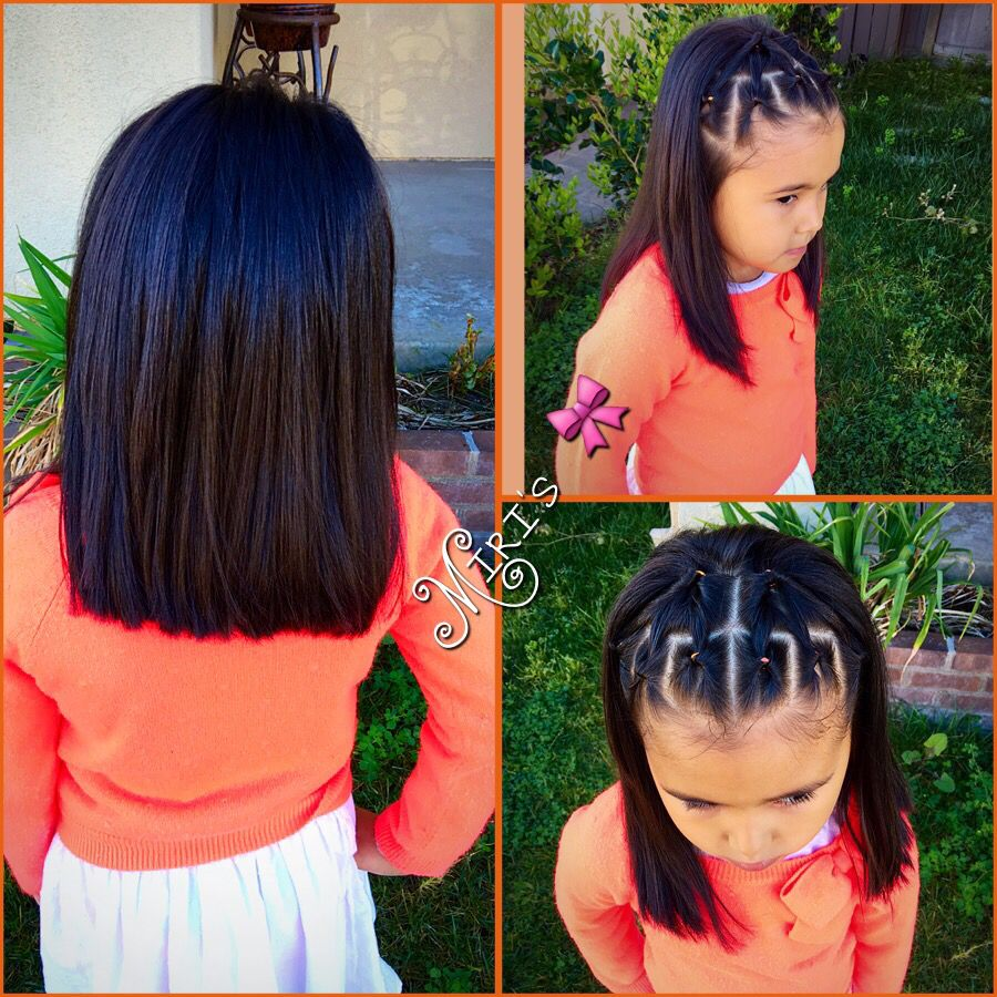 Hair Style For Little Girls With Short Hair Hair Styles Little Girl Hairstyles Lil Girl Hairstyles