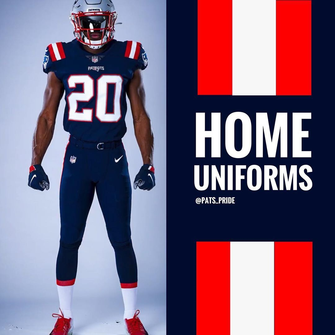 Color Rush Home Uniforms In 2020 New England Patriots Football Patriots Football New England Patriots