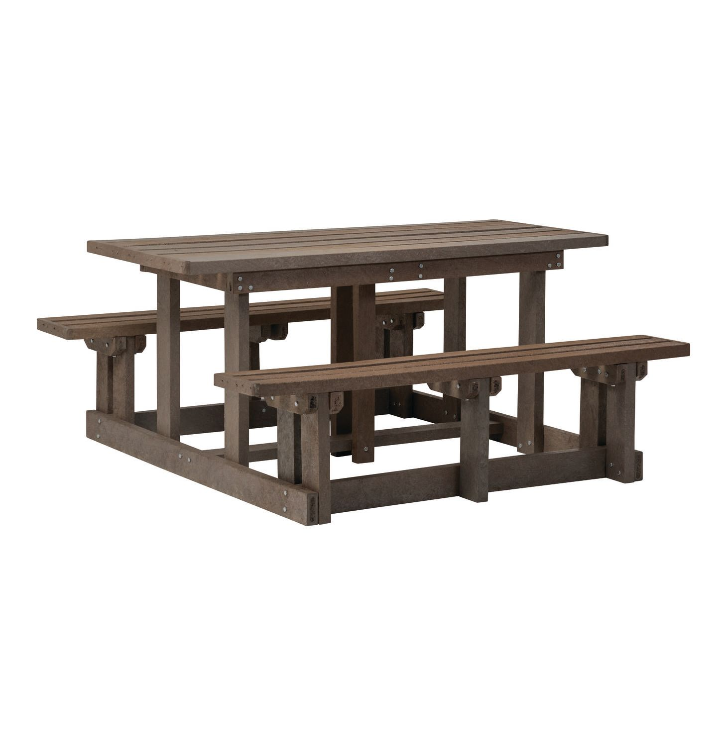 Terrace Leisure Eco 6 Seater Picnic Bench Set Brown Lowest Prices Specials Online Makro