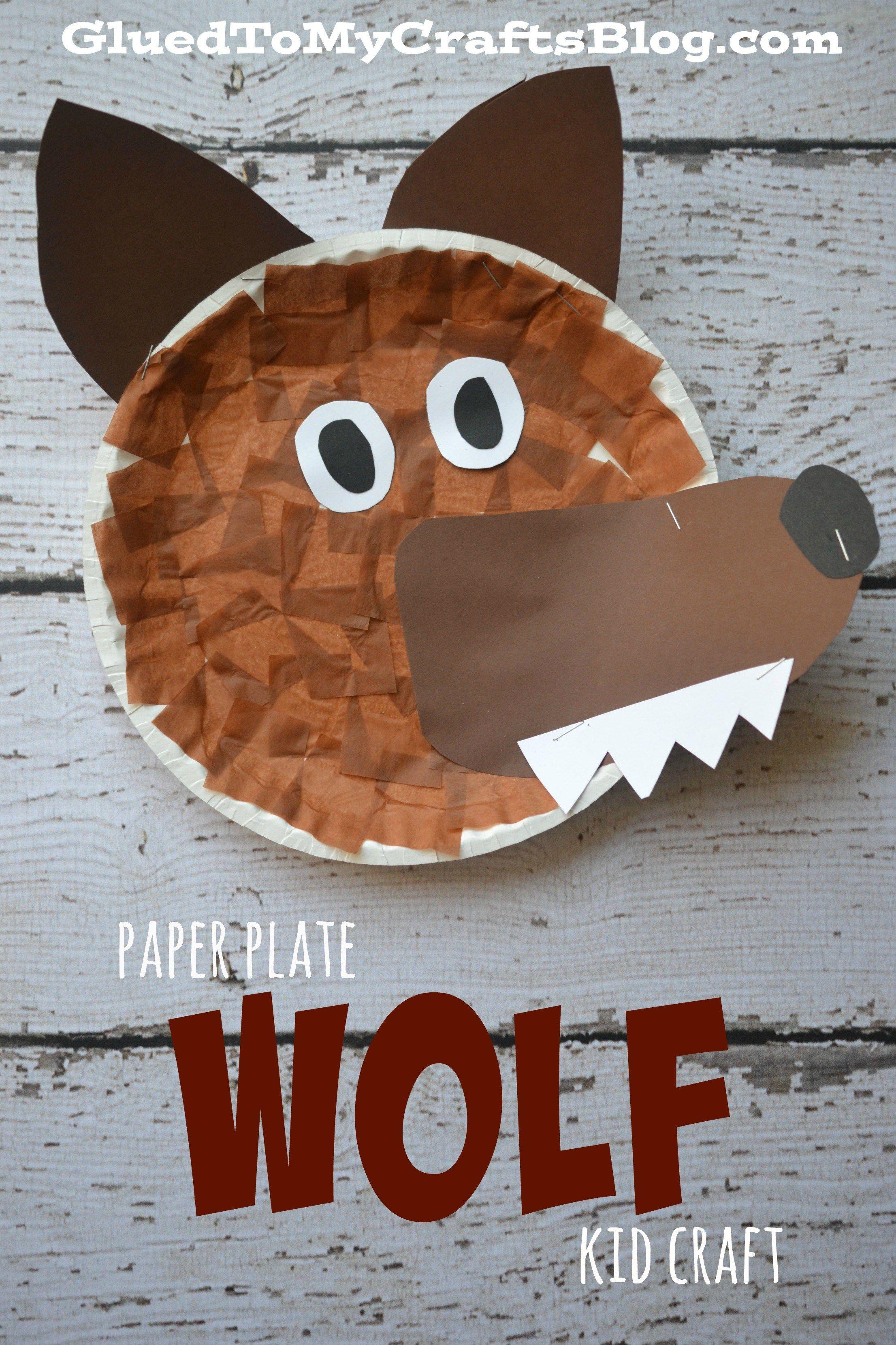 Paper Plate Wolf {Kid Craft} #craftsforkids
