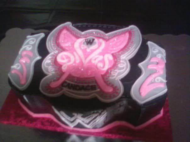 Diva Belt Birthday Cake Kynzi Wrestling Party Pinterest