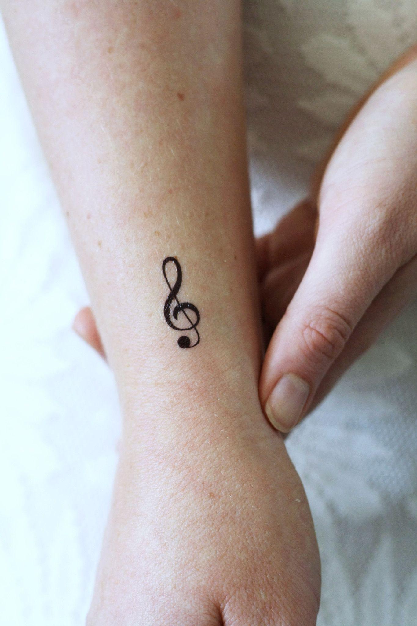 Small G Clef music temporary tattoo (4 pieces) | Tattoos | Tattoos ...