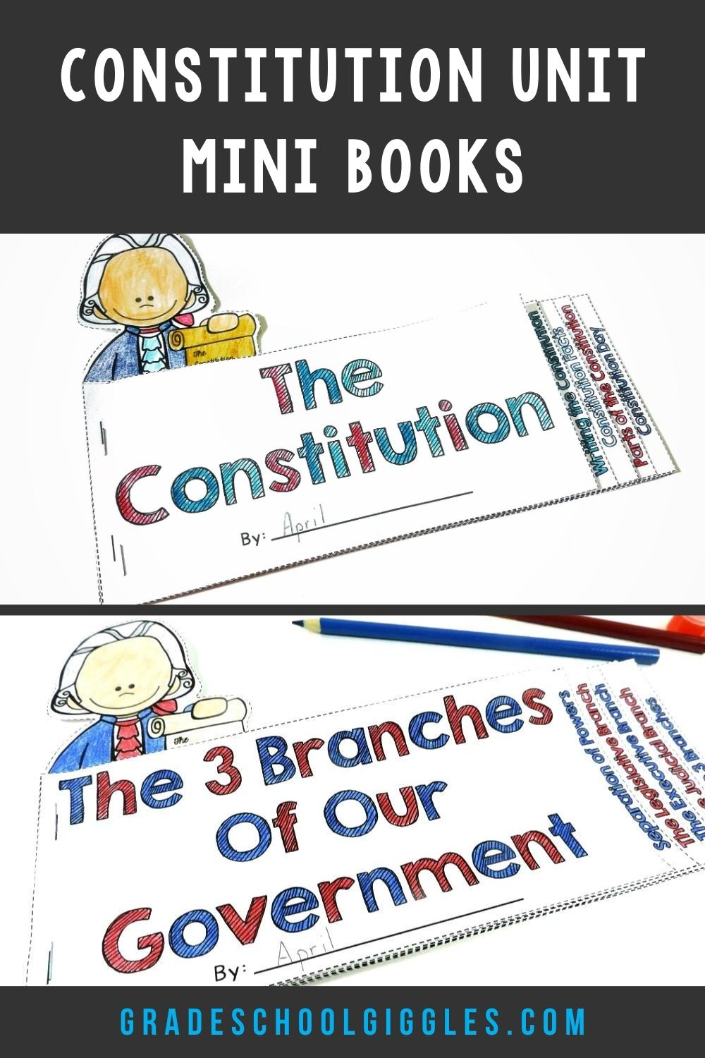 The U S A Constitution Unit Mini Books For Kids Third Grade Activities Elementary Learning Social Studies Elementary [ 1500 x 1000 Pixel ]