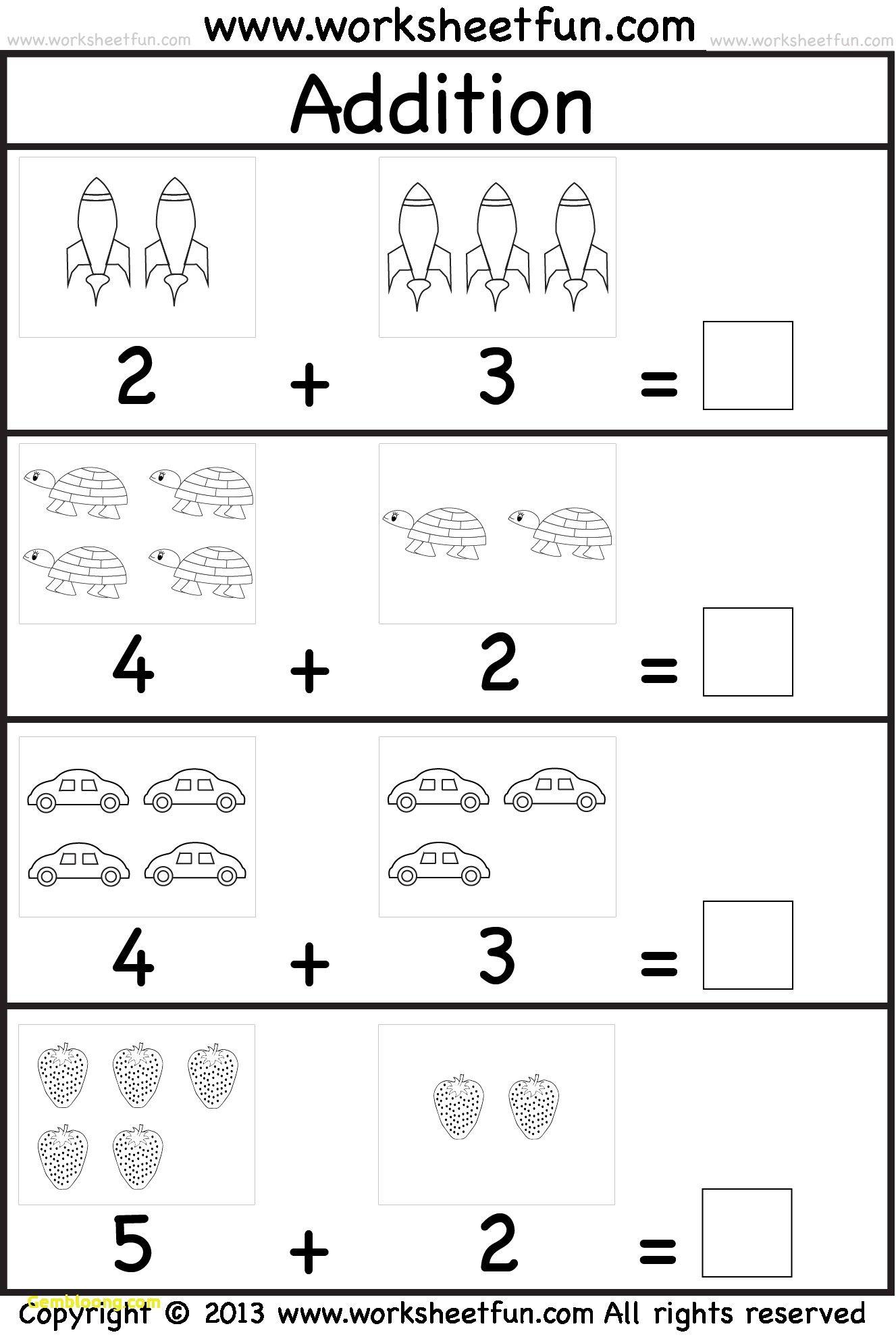 Recent Math Worksheets For Kindergarten Addition