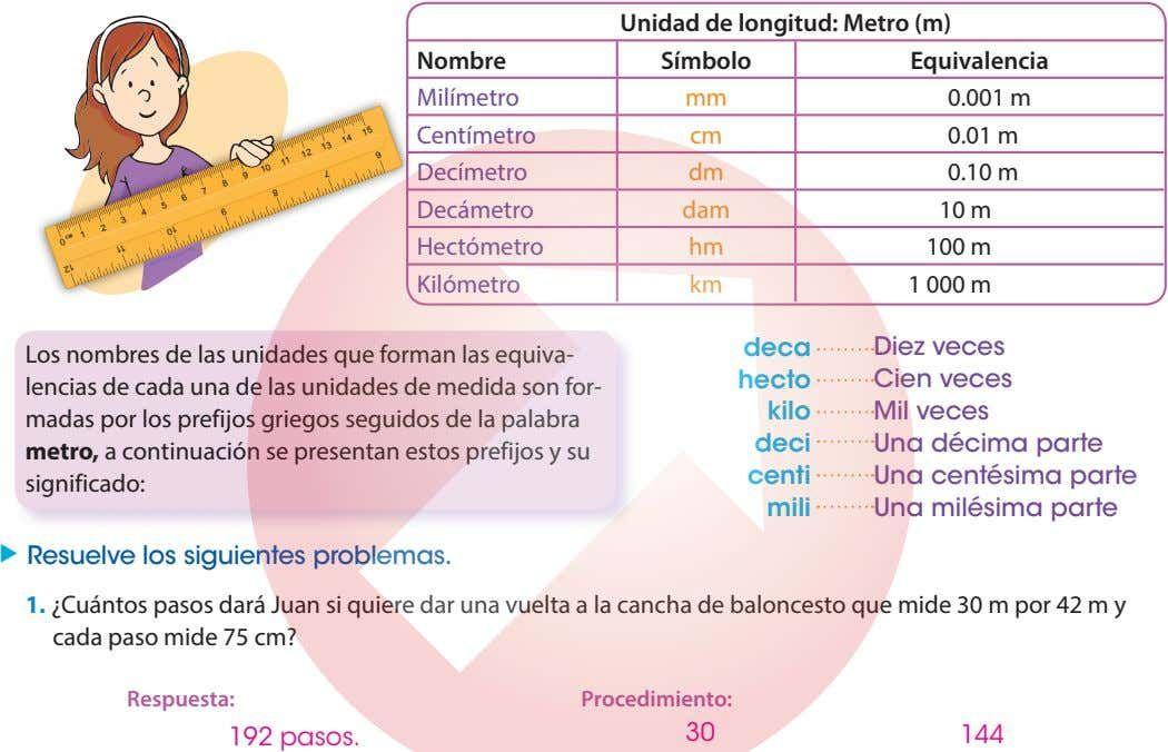 Unidad De Longitud Metro M Nombre Símbolo Equivalencia Milímetro Mm 0 001 M Centímetr Matemáticas De Quinto Grado Unidades De Longitud Problemas Matemáticos