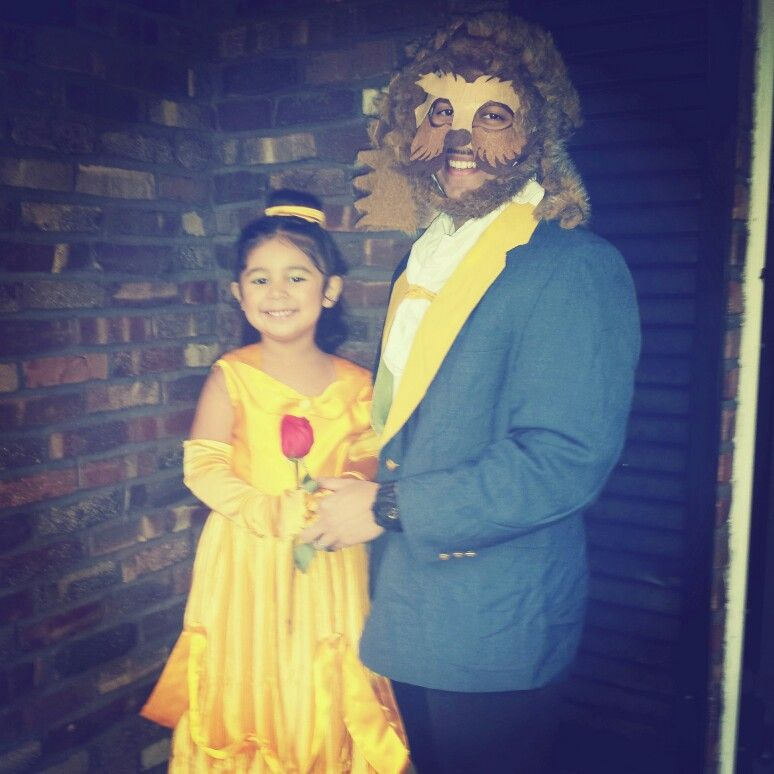 Father Daughter Halloween Costume Beauty And The Beast With