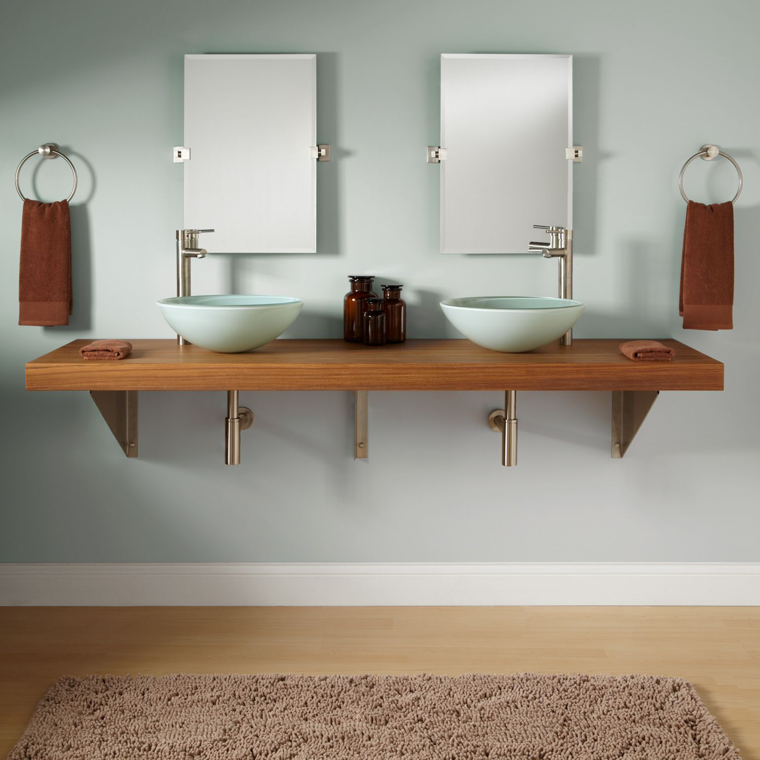 73 teak wall mount vanity for vessel sinks teak wall on wall mount id=38868