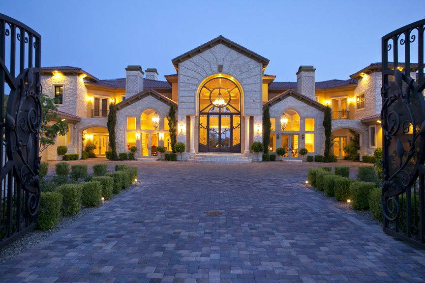 Incredible luxury estate behind 3 gates in queensridge for Mansions for sale las vegas