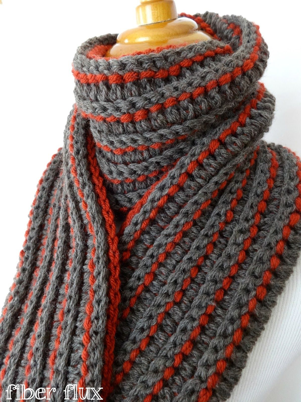 Free Crochet Pattern...The Every Man Scarf | Combinación de colores ...