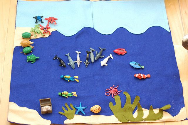 Ocean playmat, cute and simple for kids! @Jordona Jackson Hubber have you seen this?
