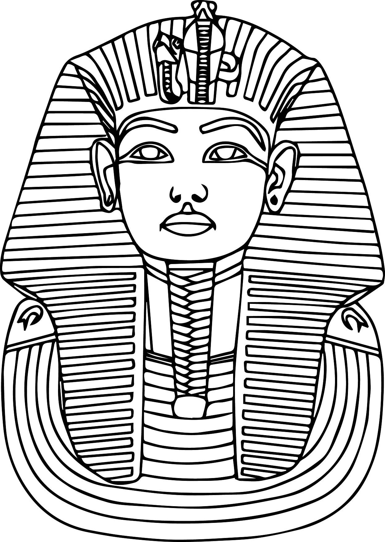 Printable Ancient Egypt Pharaoh Coloring Pages Egypte