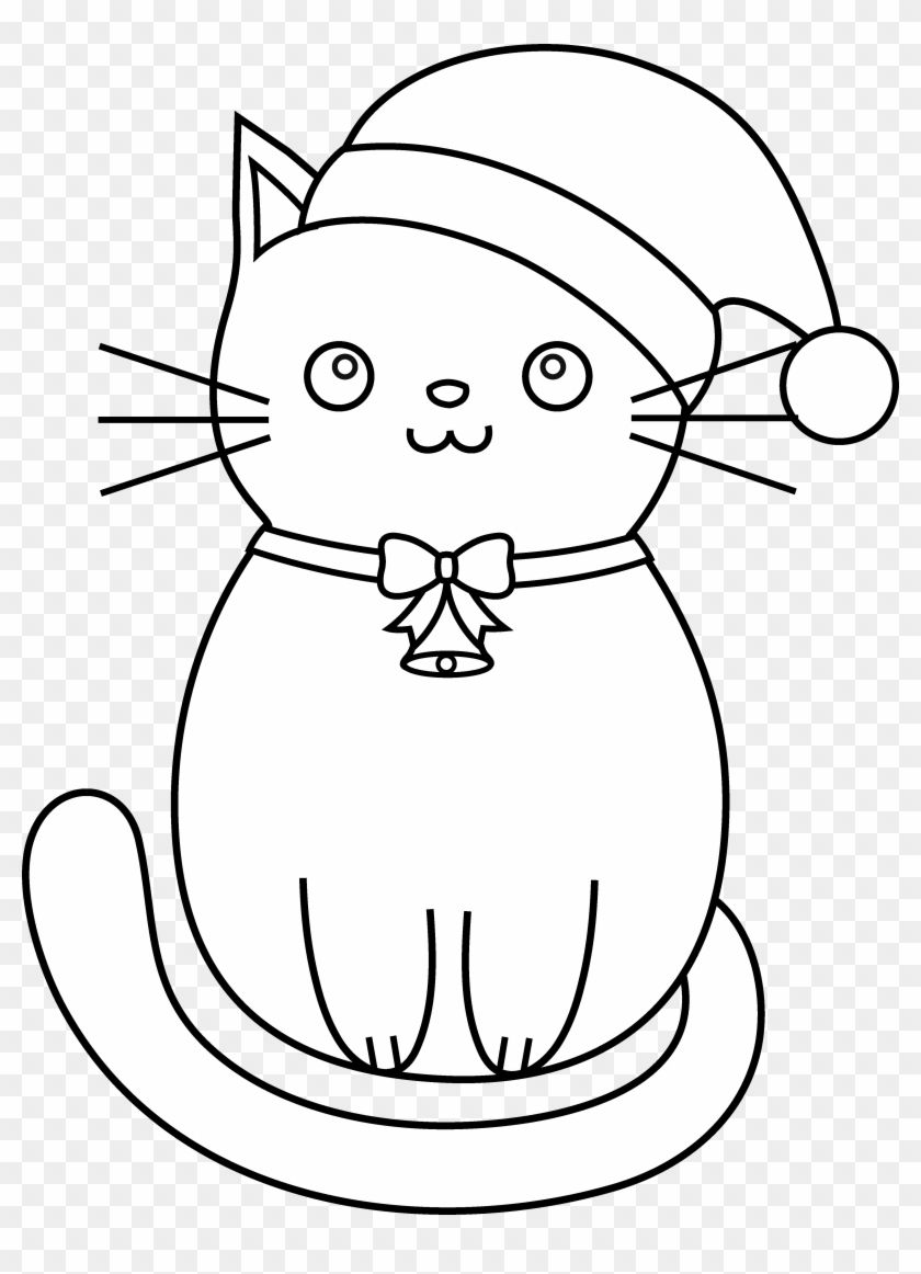 cc03a15a4ae63b92cd887ee2115b433f » Christmas Coloring Page Kitten
