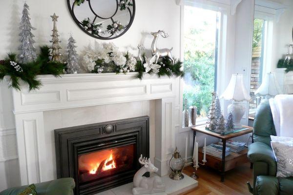 déco de Noël 2014 en couleurs tendance blanc et argent