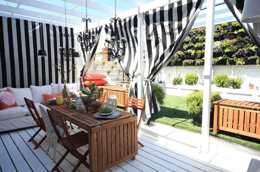 stripe curtain Outdoor Curtains Pinterest Striped curtains and