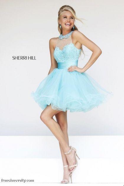Sherri Hill size 2 Aqua