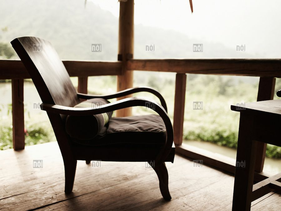 Interiors · Wood Chair On A Stilt House Terrace ...