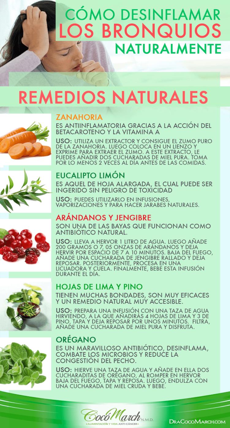 Cómo Desinflamar Los Bronquios Naturalmente Bronquios Remedios Naturales Remedios